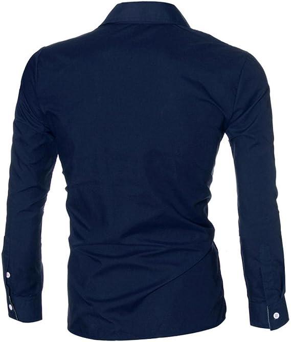 Camisa de Sonnena de manga larga para hombre, a la moda, de lujo, estilo informal, ajustada