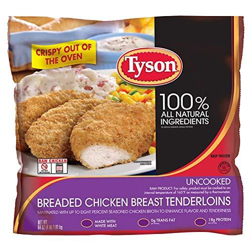 Chicken Tenderloins Breaded (Tyson Breaded Chicken Breast Tenderloins (4 lbs.))