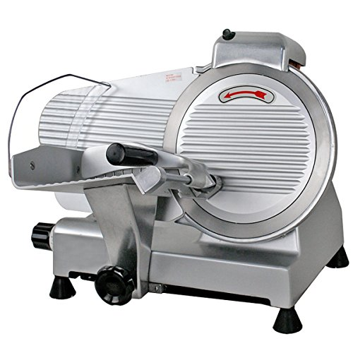 SUPER DEAL Stainless Steel Electric Meat Slicer 10'' inch Blade Home Kitchen Deli Meat Food Vegetable Cheese Cutter Thickness Adjustable Spacious Sliding Carriage, 240W 530 RPM by SUPER DEAL (Image #3)