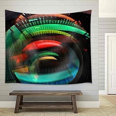 Colorful Lens Reflection Coating Fabric Wall, Premium Creation, Stunning Print