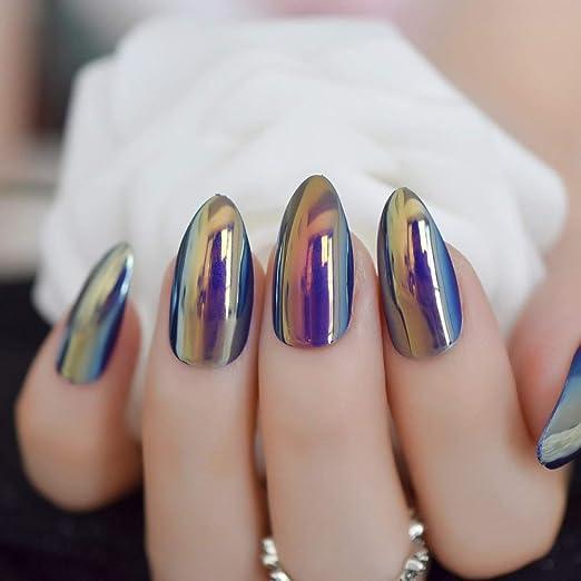 EchiQ - Espejo metálico brillante cromado para uñas postizas ...