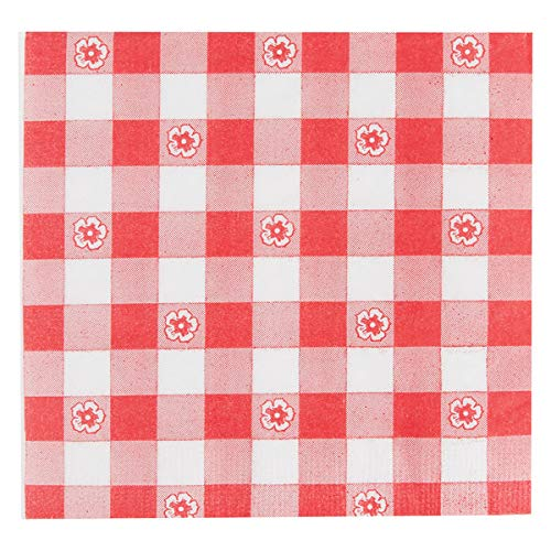 Red and White Gingham Luncheon 2-ply Napkins 100 Count ()