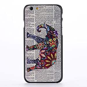 For iphone 4s Case, Fashion Paper and Elephant Pattern Protective Hard Phone Cover Skin Case For iphone 4s) + Screen Protector