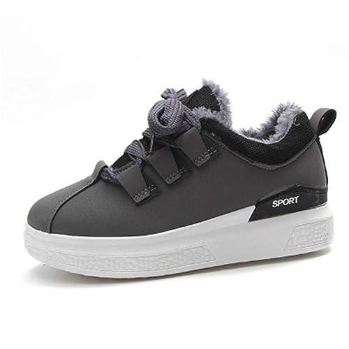 Zapatillas Mujer Plataforma Piel CáLida Zapatos De Invierno Planas De Felpa Zapatos Casuales Mujeres CóModas Zapatillas para Caminar: Amazon.es: Zapatos y ...
