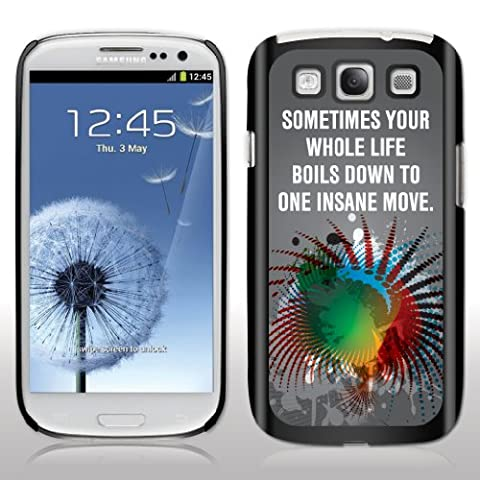 """Samsung Galaxy S3 Case- Avatar – Movie Quote - """"Sometimes your whole..."""" - Black Protective Hard (Avatar Phone Case Galaxy S3)"""