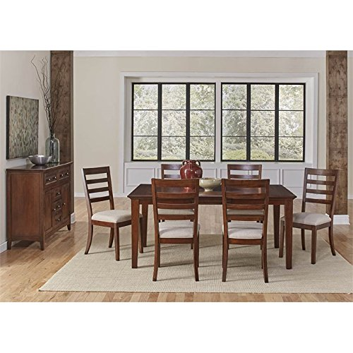A-America Westlake 8 Piece Extendable Dining Set in Cherry Brown