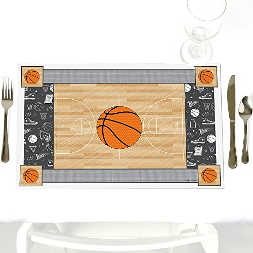 (Nothin' But Net - Basketball - Party Table Decorations - Baby Shower or Birthday Party Placemats - Set of 12)