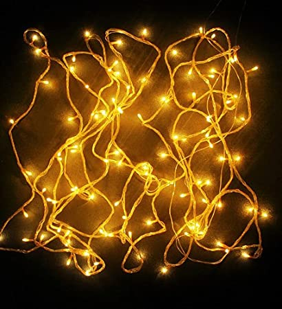 Blackberry Overseas Yellow Colored Decorative Rice Led Lights  Metre Long