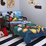 Mickey Mouse Clubhouse Crib / Toddler Comforter & Sheet Set (4 Piece Bedding) + HOMEMADE WAX MELT