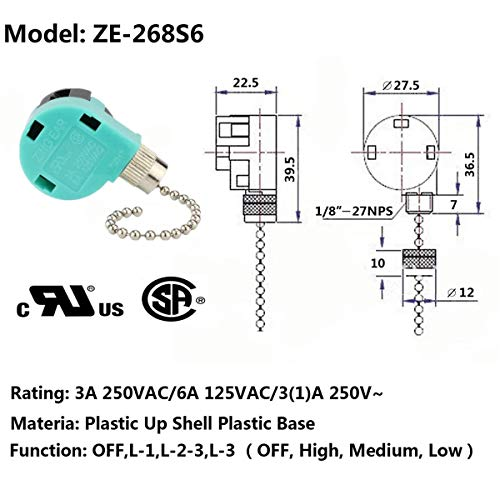 Zing Ear 3 Speed Fan Switch Wiring Diagram from images-na.ssl-images-amazon.com