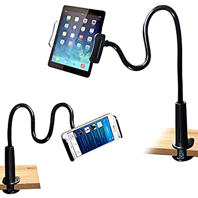 Cell Phone Stand Holder, Tablet Clip Holder,Long Arm Gooseneck Flexible Lazy Bracket for ipad/ iPhone X/8/7/6/6s Plus Samsung Note Galaxy S8/S7 Mount