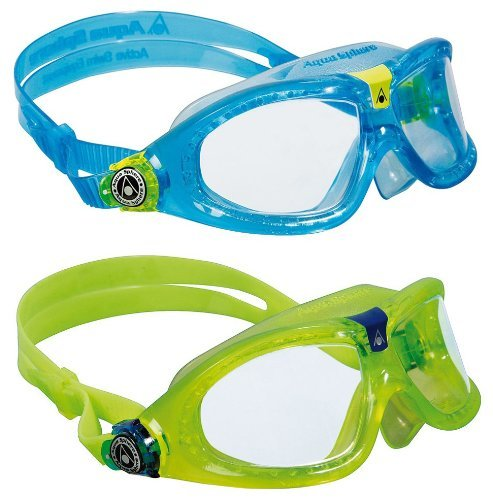 Aqua Sphere KIDS Seal 2 Pack Swim Goggles, Aqua + Lime