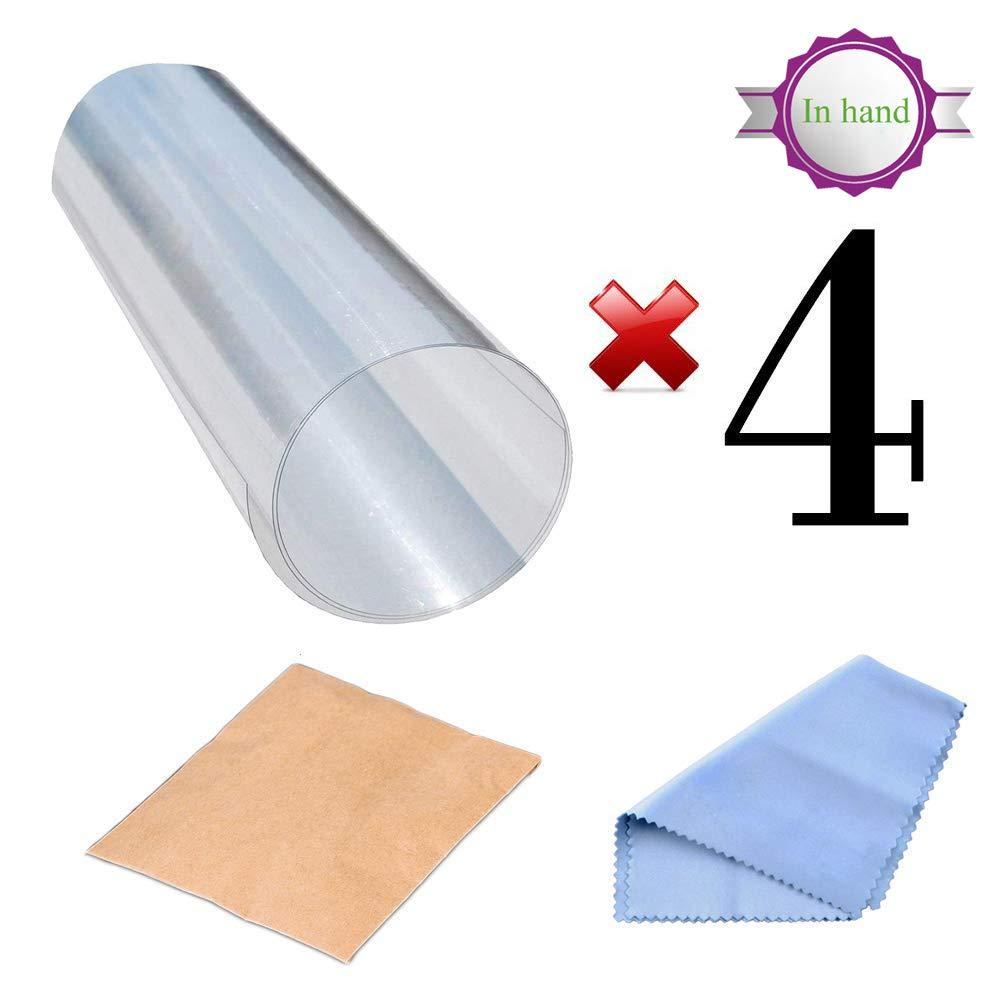 Protectores contra rayones para muebles, 4 paquetes X-Large Protectores protectores de sofá de vinilo flexible superior con pasadores para proteger ...