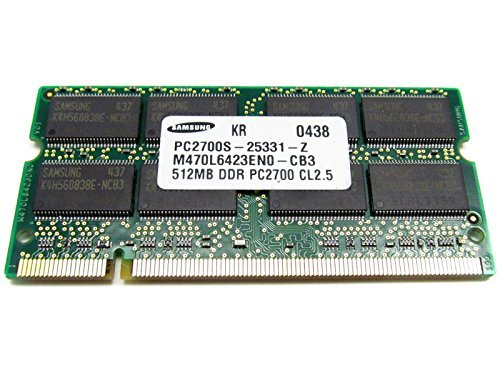 Notebook Nx9010 Series (Samsung 512MB PC2700 CL2.5 DDR Memory M470L6524BT0-CB3)