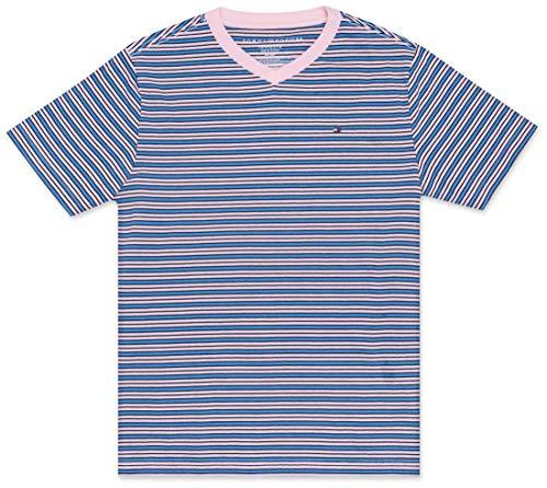 Tommy Hilfiger Little Boy's Stripe short sleeve tee shirt Shirt, crystal rose, ()