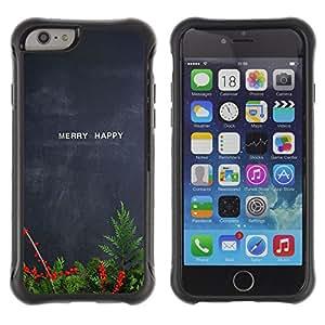 WAWU Funda Carcasa Bumper con Absorci??e Impactos y Anti-Ara??s Espalda Slim Rugged Armor -- fern merry happy Christmas blackboard teacher -- Apple Iphone 6 PLUS 5.5