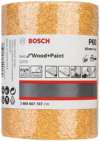 Bosch Professional 2608607707 Wood 93mm x 5m Roll G60 Yellow 93 mm x 5 m