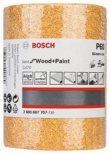 Bosch 2 608 607 707 - Rodillo lijador - 93 mm, 5 m, 60 (pack de 1) 2608607707