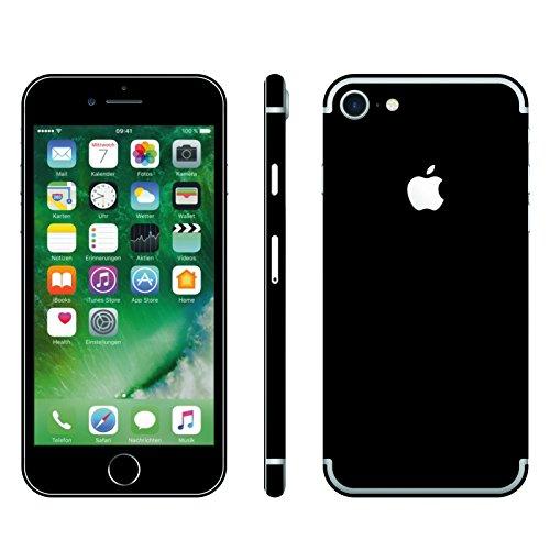 IPHONE 7 SCHWARZ MATT FOLIE SKIN ZUM AUFKLEBEN bumper case cover schutzhülle i phone