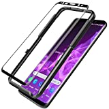 LK for Samsung Galaxy S9 Plus Screen Protector, Tempered Glass [Case Friendly][Alignment Frame Easy Installation][3D Curved][Full Coverage] with Lifetime Replacement Warranty