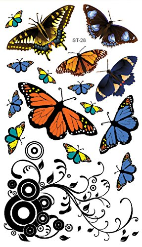 Supperb Butterfly Temporary Tattoos/6-pack by Supperb (Image #4)
