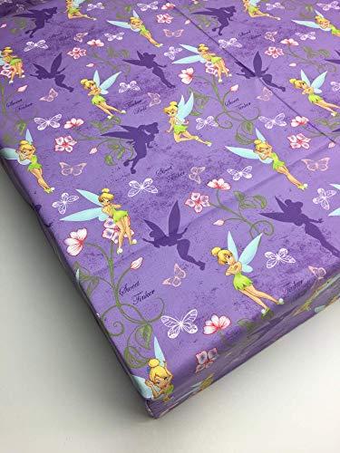 Purple fairy fitted crib sheet handmade in USA