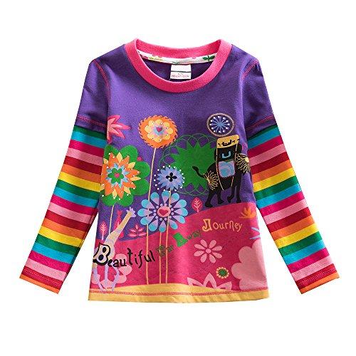 VIKITA Meisjes T-shirts Dierenprint Cartoons Patroon Katoenen Tops 1-8 jaar oud
