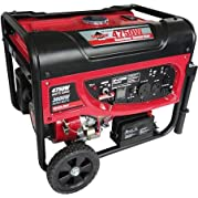 Smarter Tools STGP-4750EB 4750W Portable Gas Generator with Electric Start and 12V/7aH Battery, Gasoline Powered