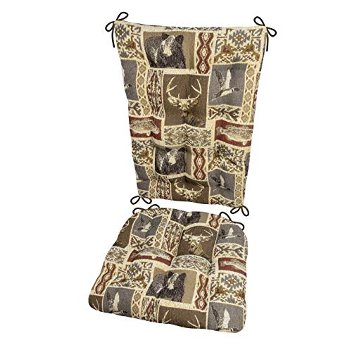 - Barnett Products Wilderness Mountainview Rocking Chair Cushions - Latex Foam Filled Seat Pad & Back Rest