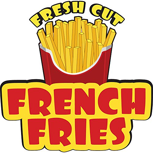 """French Fries 12"""" Concession Decal Sign cart Trailer Stand Sticker Equipment"""