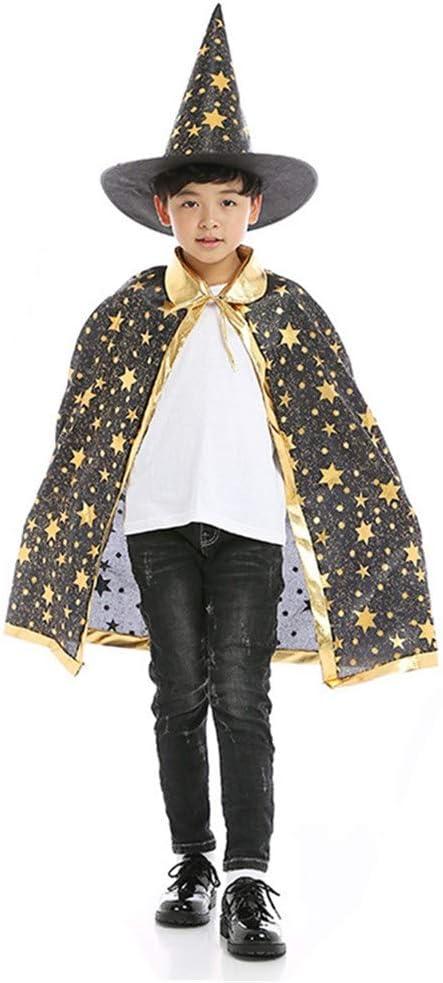 BJ-SHOP Capa de Halloween para Niños, Capa de Brujo Mago Disfraces ...
