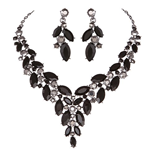 formal black dress jewelry - 3
