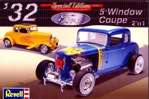 Revell 1/25 '32 Ford 5 Window Coupe 2' n 1 32 Ford Coupe Hot Rod