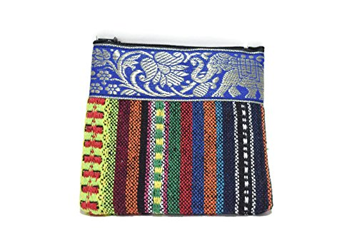 1-pc-handmade-purse-made-of-traditional-thai-frabic-with-blue-elephant-strip-style-2-with-naive-desi