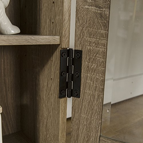 WE Furniture 41'' Wood Media Cabinet - Driftwood by WE Furniture (Image #4)