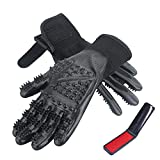 CICINY Cat Grooming Glove - Pet Grooming Glove for Cats and Dogs Horse Rabbit Hair Removal - De-Shedding Gloves for Pet Dog Cat Bathing or Massaging - Small Animal Grooming Kit Tools Supplies (Large)