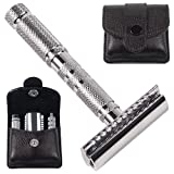 Parker A1R - 4 Piece Travel Safety Razor and Leather Case