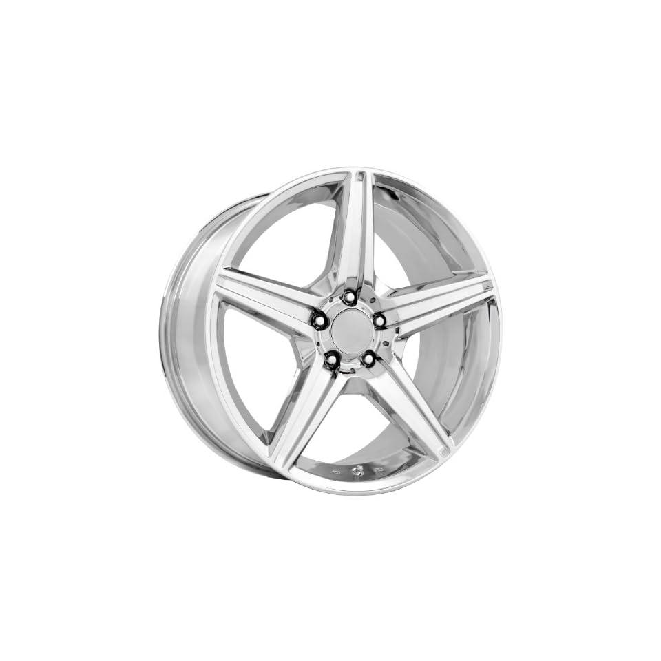 Strada Replicas 115 19 Chrome Wheel / Rim 5x112 with a 38mm Offset and a 66.56 Hub Bore. Partnumber 115C 994438