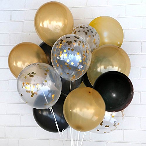 jinzan Party Decorations Balloons Confetti Latex Balloons (Thickened 12