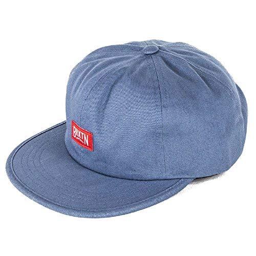f8654d93cd6c5 ... ebay brixton hats langley baseball cap grey blue dea79 626bc ...