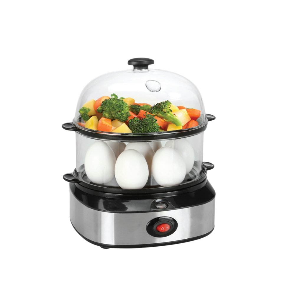 PowerDoF Double Tier ZDQ-702A Electric Multi Function Egg Cooker with Food Steamer, Small