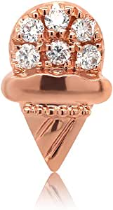 Chow Tai Fook So-in-love Collection Natural Diamonds and 18K Rose Gold Summer Sweet Stud Earring (One Piece) - Popsicle