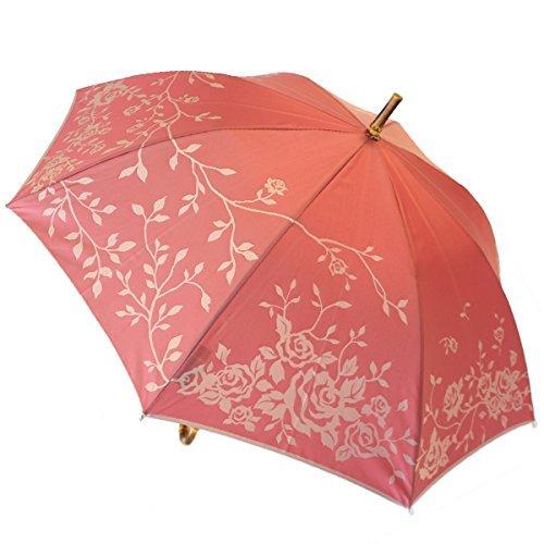 高級甲州織 レディース 雨傘 長傘「kirie」バラ(ローズ)日本製 高級傘 槇田商店 B01LZDFWIU