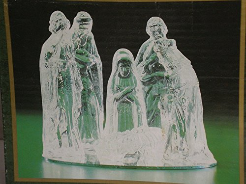 - 6pc Glass Nativity Set with Mirrored Base, Windsor Collection