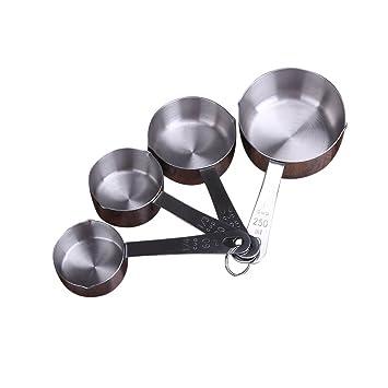 Juego de 4 cucharas medidoras de acero inoxidable, taza de ...