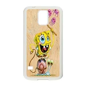 Samsung Galaxy S5 Case a Tribute to SpongeBob SquarePants, Sexyass, [White]
