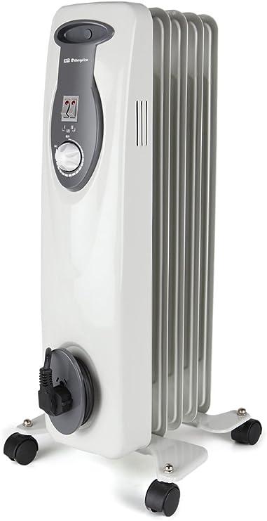 Orbegozo RA 1000 D – Radiador de aceite, 1000 W de potencia, construcción modular de 5 elementos y diseño en color blanco: Amazon.es: Hogar