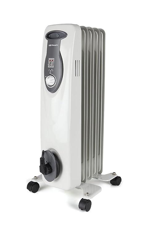 Orbegozo RA 1000 D – Radiador de aceite, 1000 W de potencia, construcción modular de 5 elementos y diseño en color blanco