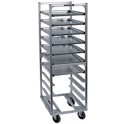Roll-In Cooler Rack, 64H, Open Sides, Capacity (18) 18 X 26 Pans, Angle Ledge, 3 Spacing,
