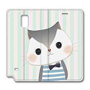 Brian114 Samsung Galaxy Note 4 Case, Note 4 Case - Samsung Note 4 Protective and Light Carrying Cover Big Water Eyes Kitty Non-Slip Leather Case for Samsung Galaxy Note 4